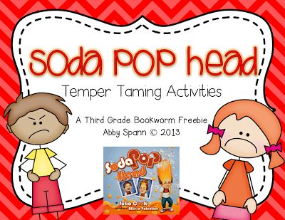 Soda Pop Head (author, Julia Cook) - activities to support anger management
