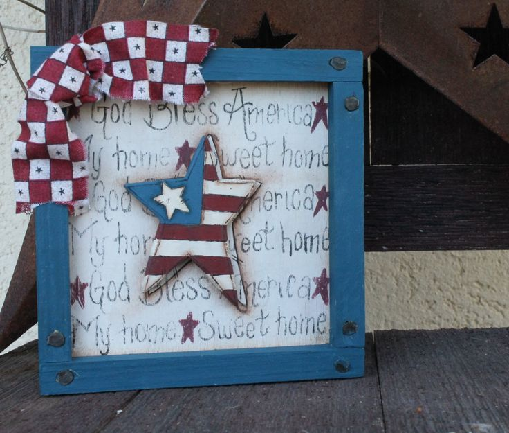 Fourth of July decorations | Americana sign 4th of July decorations by CountryCrafts01 on Etsy