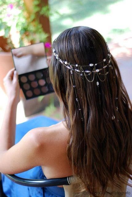 Hair Style & MakeUp Novia Rosario Undurraga by Angeles Irarrazaval, via Flickr
