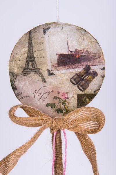 """Easter Candle Lollipos """"Bon Voyage"""" #lollipops #decoupage"""