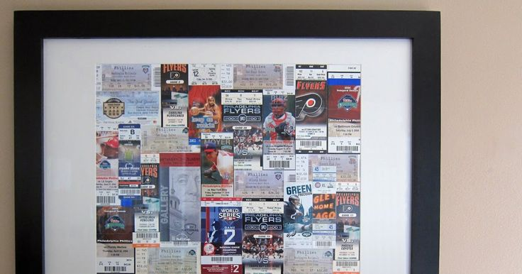 "Madigan Made: Turn sporting event tickets into framed ""art"""