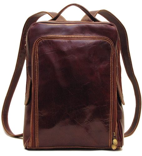 818cb7349d Milano Pack is made with Floto Italian calfskin leather and comes in  Vecchio Brown and Black.
