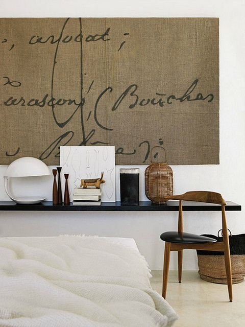 Love the wall art -- a modern home on ibiza by the style files, via Flickr