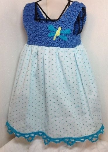 Crochet pillowcase dress newborn dragonfly by ThreadsNThingsbyMarg, $48.00