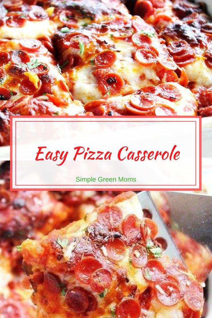20 Minute Cheesy Pizza Casserole Recipe Pizza Casserole