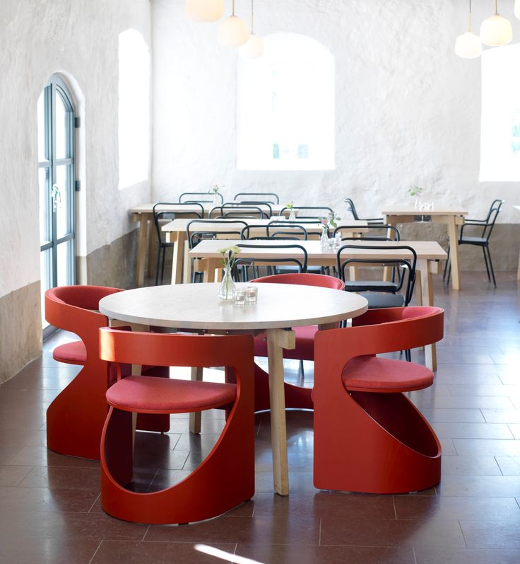 Lucky in good company. In the middle of historic surroundings, sprawling nature and contemporary art the lovely Wanås Restaurant Hotel offers a truly unique atmosphere of quality and expression. Enjoy the dining experience on Kaffe chairs and Size tables .   Lucky product design: Luka Stepan Size and Kaffe product design: Thomas Bernstrand  Photo: Erik Karlsson  Peace, Love and Good Design