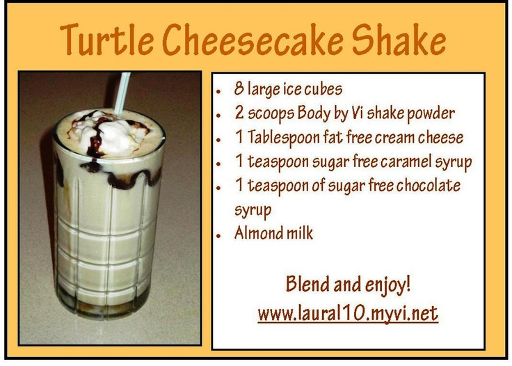Pin By Kelly Criss On Shakes Turtle Cheesecake Shake Recipes Cheesecake Shake Recipe