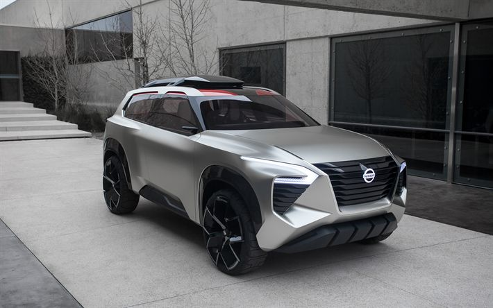 Download wallpapers Nissan Xmotion Concept, 2018, SUV concept, Japanese cars, future cars, Nissan