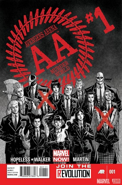Avengers Academy (Arena) - Marvel Now: Avengersarena, Avengers Arena, Marvel, Comic Books, Comic Covers, Book Covers, Comics, Battle Royale