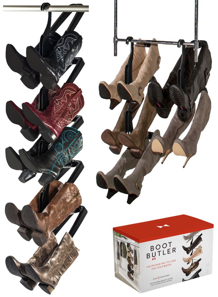 Reclaim Your Closet & Extend the Life of Your Boots with Boot Butler. Amazon's top rated boot rack - a Boot Butler allows you to see all your boots at once with easy access, store them in half the space and keep them looking beautiful by taking proper care of them.