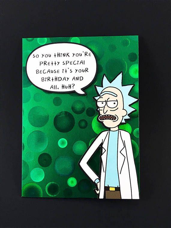 Rick Sanchez Greeting Card Rick and Morty Birthday