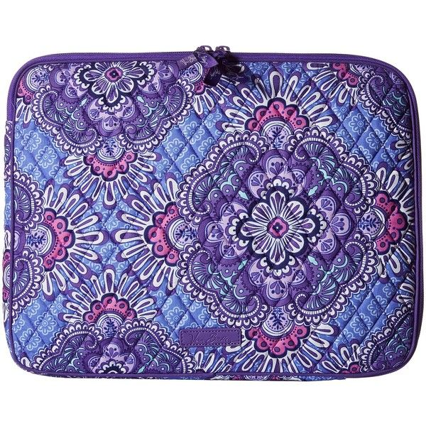 Vera Bradley Laptop Sleeve (Lilac Tapestry) Computer Bags ($38) ❤ liked on Polyvore featuring accessories, tech accessories, vera bradley, laptop cases, padded laptop case, laptop sleeve cases and vera bradley laptop case