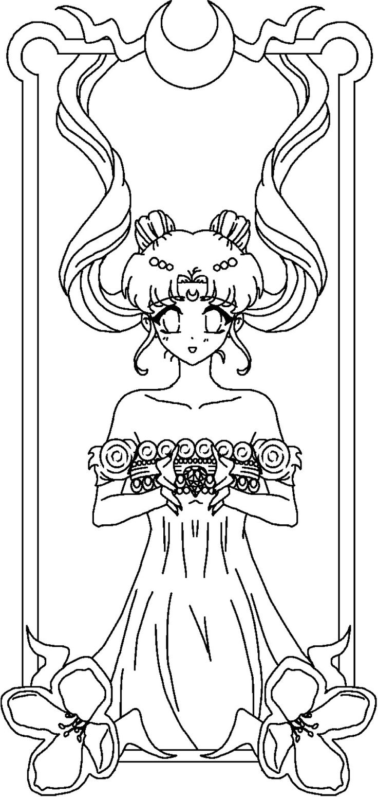 queen serenity coloring pages | Sailor Moon Princess Serenity Coloring Pages Sketch ...