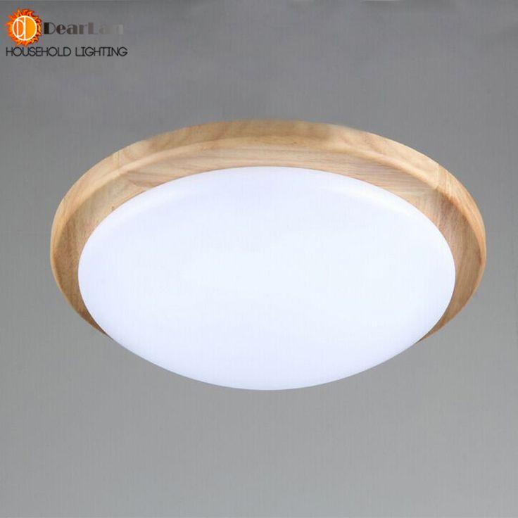 Modern LED Wood Ceiling lamp Korean Garden Style Indoor Light For Home Bedroom Lamps Foyer Room Lamp Fixture Lampshade Lighting #Affiliate