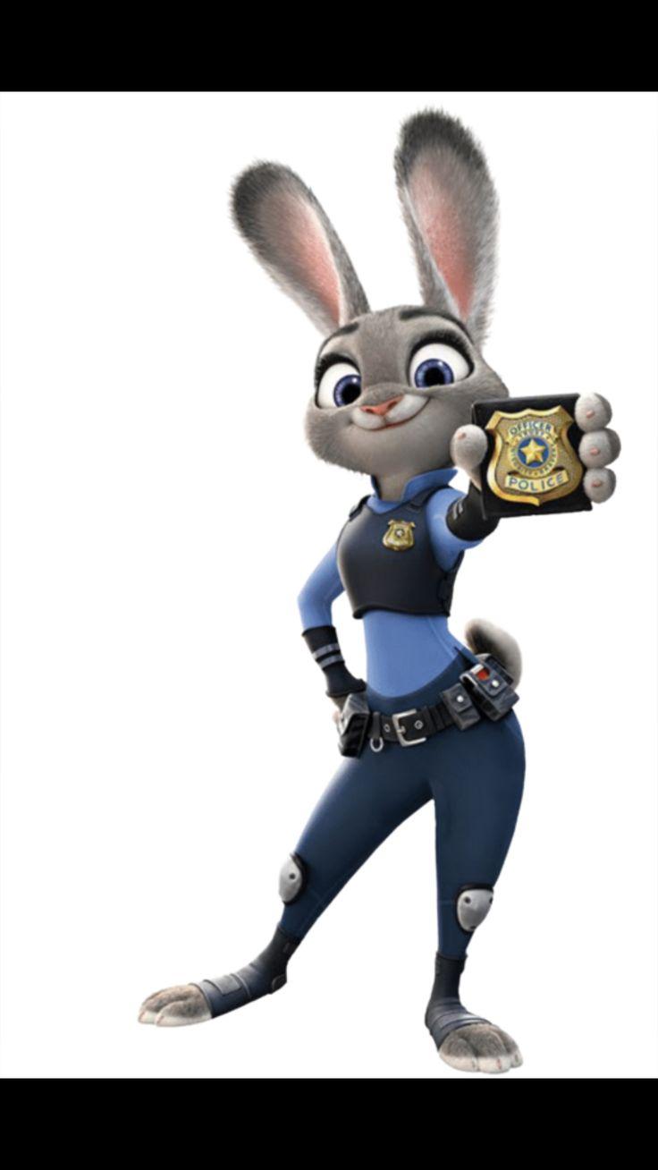Ausmalbild Nick Und Judy Hopps Aus Zootopia: Zootopia Police Rabbit: Lt. Judy Hopps