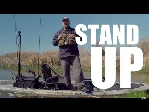 Kayak Bass Fishing: JUST THE TIP - STAND UP FISHING - (More info on: https://1-W-W.COM/fishing/kayak-bass-fishing-just-the-tip-stand-up-fishing/) #kayakbassfishing