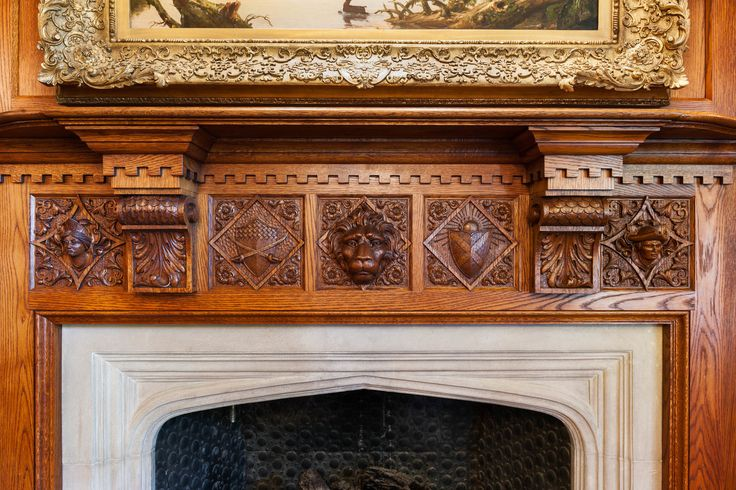 Aged Mantle Shelf Shelves, Mantels and Fireplaces