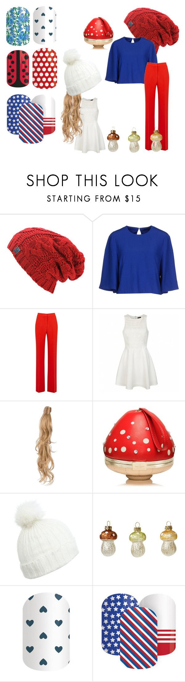 """""""SMURFS!"""" by brooke-redman on Polyvore featuring beauty, Alexander McQueen, MSGM, Ally Fashion, Rapunzel Of Sweden, Kate Spade and Miss Selfridge"""