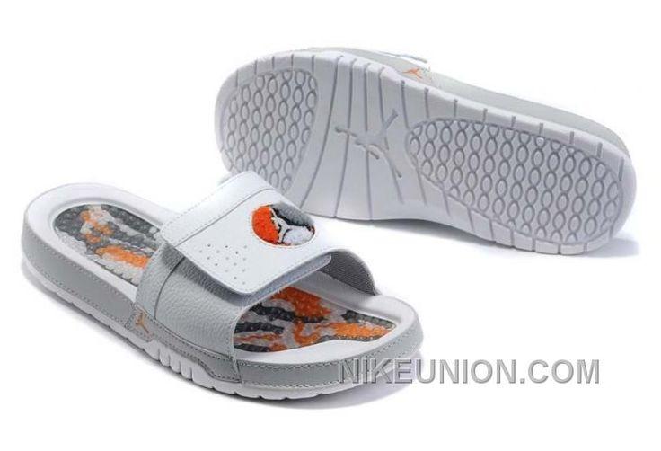 http://www.nikeunion.com/jordan-8-flip-flops-white-orange-grey-new-style.html JORDAN 8 FLIP FLOPS WHITE ORANGE GREY NEW STYLE : $40.82