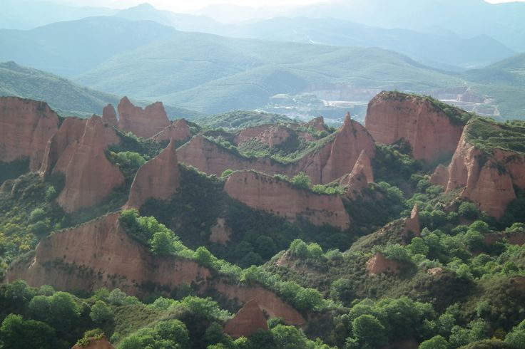 Las Medulas, Ponferrada, Spain-used to be the most important gold mine in the...