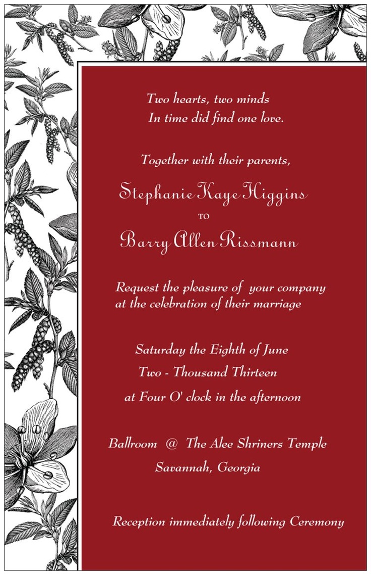 50 best invitations images on Pinterest | Bridal invitations ...