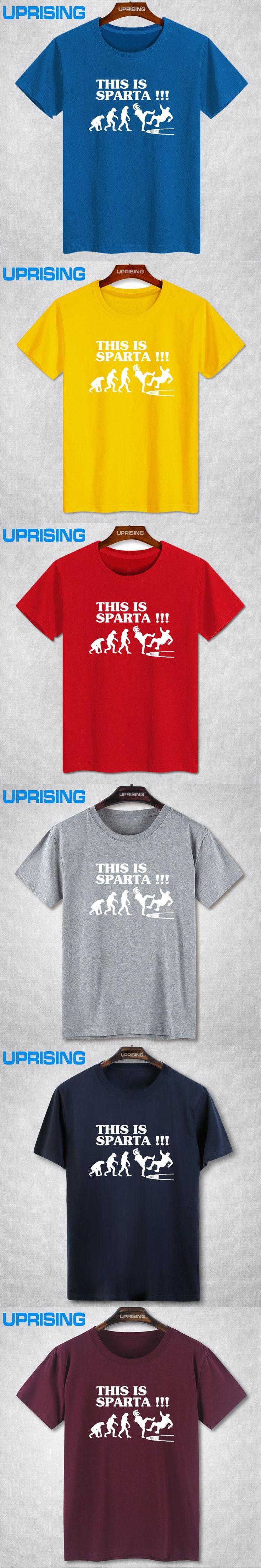 Fashion Superman T-shirts Summer Mens This Is Sparta Evolution Shirt 300 King Of Sparta Tee 100% Cotton O-neck Printing Shirts