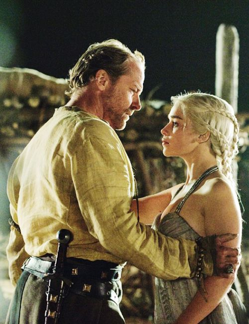 Game of Thrones:  Jorah Mormont and Daenerys Targaryen LET ME JUST GO AND CRY.