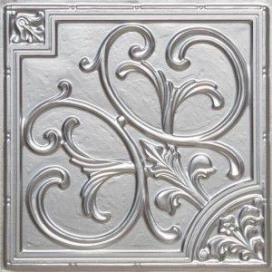 204 - Silver PVC Ceiling Tile