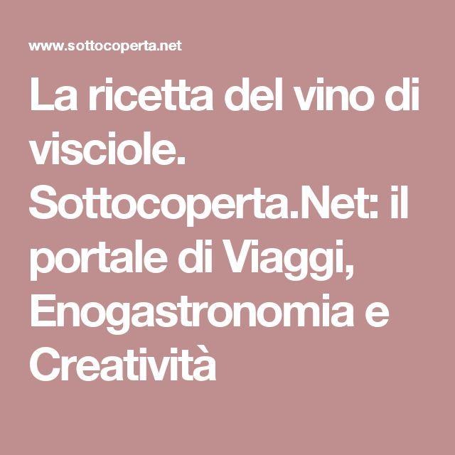 La ricetta del vino di visciole. Sottocoperta.Net: il portale di Viaggi, Enogastronomia e Creatività