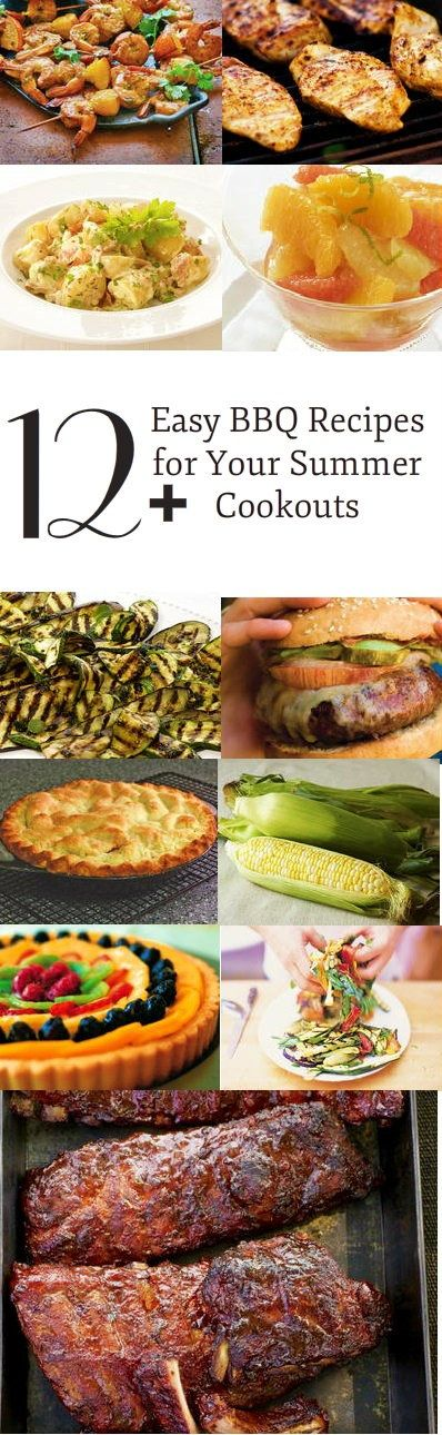When summer rolls around, there's only one thing to do: have a barbecue! These�12+ Easy Barbecue Recipes are all you need to host the perfect summer cookout. From easy grilled chicken breasts and homemade burgers to apple pies and smoked shrimp cocktail, your family and friends will not stop raving about your party!