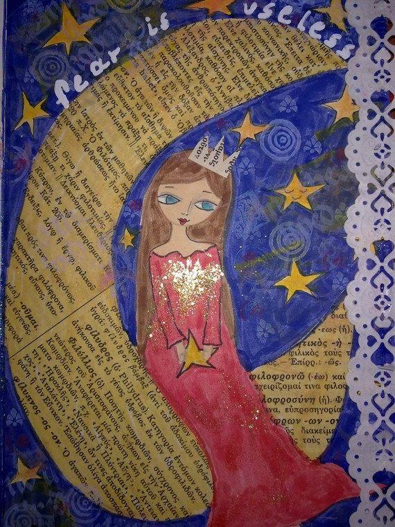 ART JOURNALING KIT a handmade mixed media art journal by eltsamp, $59.00