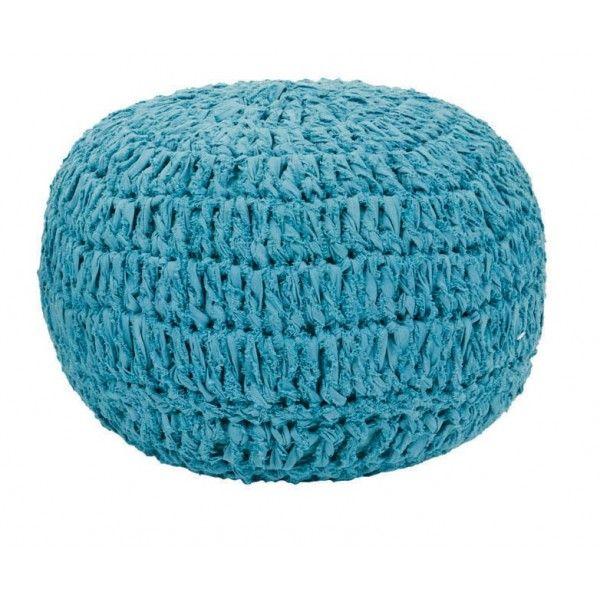 Delizioso pouf crochet per sedersi e rilassarsi. Bello per la cameretta del tuo bambino!