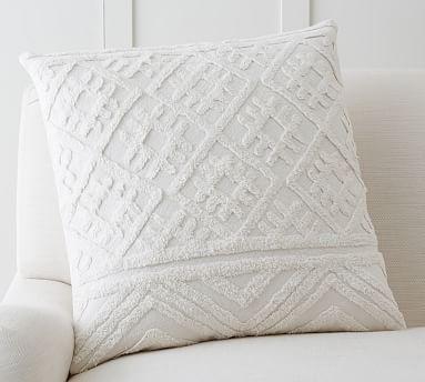 allegra tufted pillow cover potterybarn