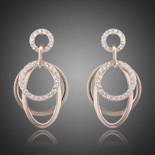 Crystal Drop Earrings 'Loops'  Click to buy >>>  www.lillyjack.com.au