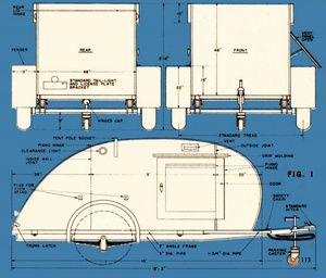 How To Build A Teardrop Trailer For Two: Always thought it would be fun to have one of these for my jeep.