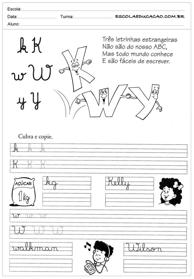 Atividade de caligrafia letra K