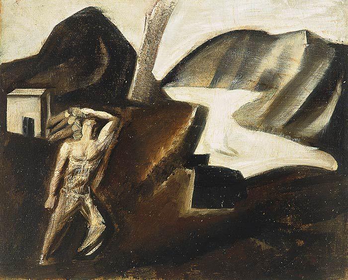 Mario Sironi, Laghetto di montagna, 1928.