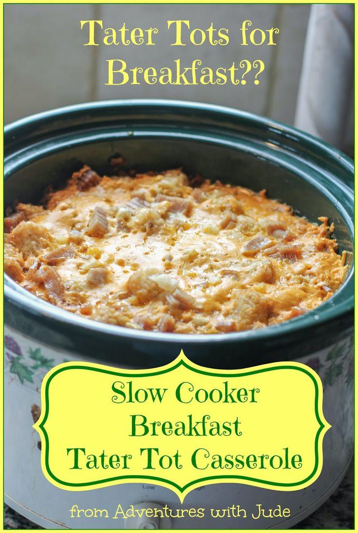 Slow Cooker Tater Tot Casserole #casserole #slowcooker