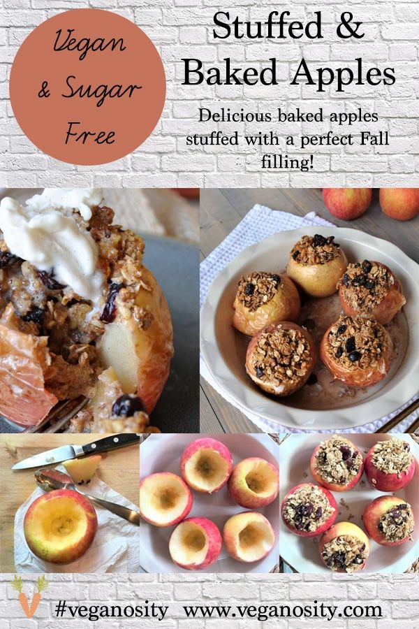 Sugar Free Stuffed Baked Apples Recipe Vegan Recipes Easy Baked Apples Vegan Desserts
