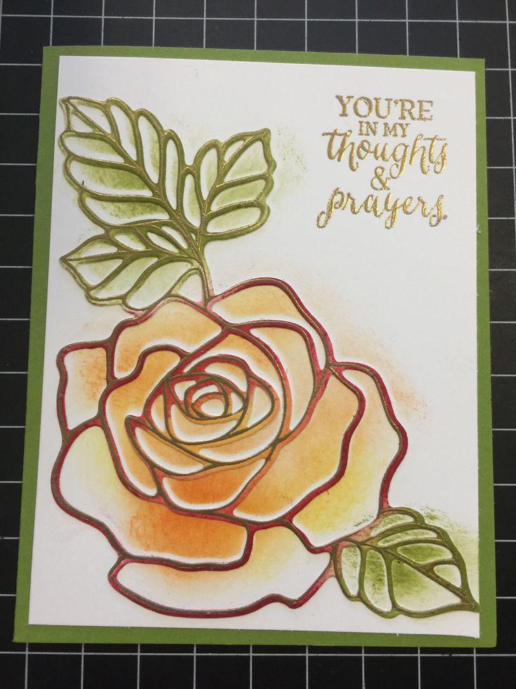 Rose Wonder Stamp set and Rose Garden Thinlits