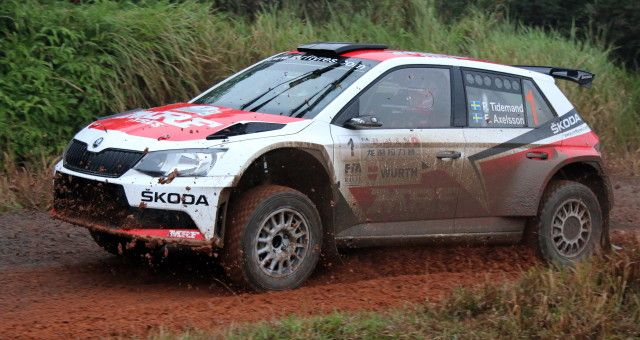 Tidemand domina en el Skoda Fabia R5 en China