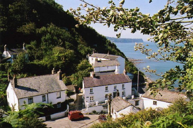 Picturesque Bucks Mills tucked away on the breathtaking north Devon coast.