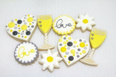 Winery Bridal Shower Cookies