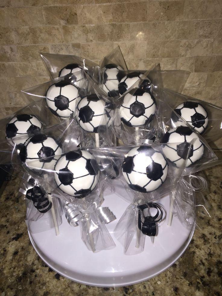 Soccer Ball Cake Pops www.Facebook.com/FriscoCakePopShop www.FriscoCakePopShop.com www.instagram.com/FriscoCakePopShop