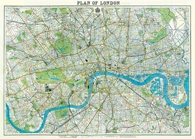 cavallini london map 2 decorative wrap