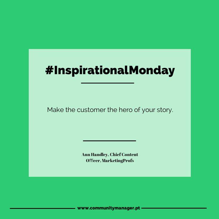 Se quer que os clientes comprem os seus produtos, conte a história destes e não a sua. #InspirationalMonday #MarketingQuotes