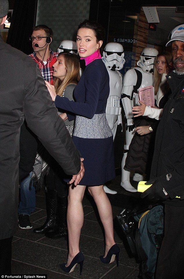Scary: His co-star Daisy Ridley, also 23, added that even if they had the option of taking...