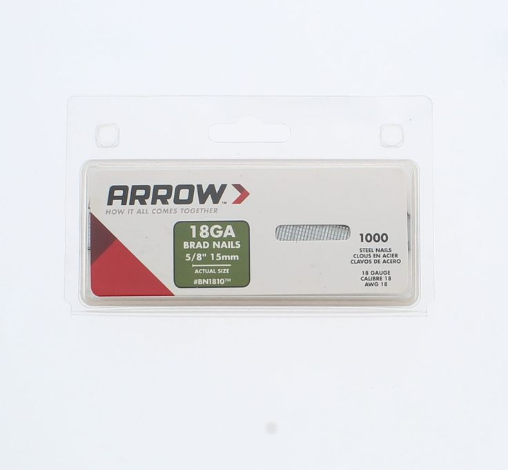 Arrow Fastener BN1810CS 5/8-Inch Brown Brad Nails,1000 ct
