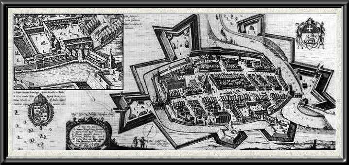 Rekonstrukcja lub stary widok zamku braniewo