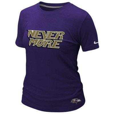 """Nevermore"" --Nike Baltimore Ravens Ladies Local Premium T-Shirt - Purple"